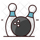 Bowling Game Alley Pins Hitting Pins Icon