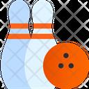 Bowling Game Bowling Ball Bowling Pins Icon