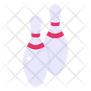Ten Pins Bowling Pins Skittles Icon