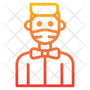 Bowtie Man With Facemask Icon