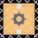 Box Parcel Cogwheel Icon
