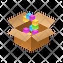 Number Isometric Box Icon