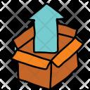 Outbox Arrow Box Icon