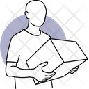 Box Delivery Carrying Box Delivery Box Icon