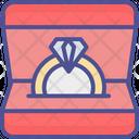 Box For Ring Diamond Ring Jewel Case Icon