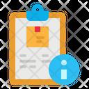 Info Files Clipboard Icon