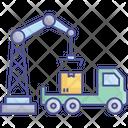 Box Lifting Box Lifter Crane Crane Roller Lifters Icon