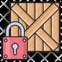 Wooden Box Lock Icon