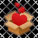 Hearts Isometric Box Icon
