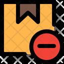 Box Minus Cancel Delivery Remove Delivery Icon