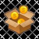 Money Isometric Box Icon