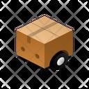 Box On Wheels Isometric Box Icon