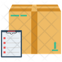 Box Package With Checklist Packaging Box Packing Icon