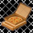 Pizza Open Isometric Icon