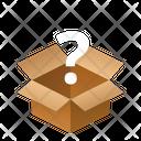 Open Question Isometric Box Icon