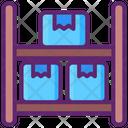 Shelf Capacity Box Rack Warehouse Icon