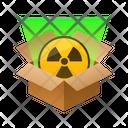 Radiation Isometric Box Icon