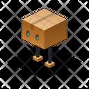 Robot Isometric Box Icon