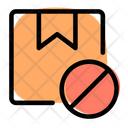 Box Stop Package Ban Parcel Ban Icon