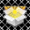 Box Sun Icon