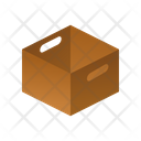 Without Lid Isometric Box Icon