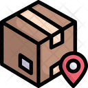 Box with pin location Icon