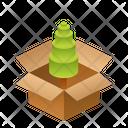 Wood Isometric Box Icon