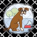 Boxer With Bone Dog With Bone Boxer Icon