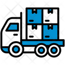 Boxes Product Truck Icon