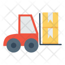 Boxes Delivery Forklift Icon