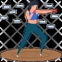 Athlete Boxing Punching Icon