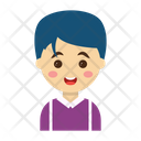 Boy Character Kids Icon