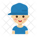 Boy Character Cartoon Icon