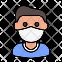 Man Avatar Medical Mask Icon