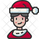 Boy Christmas Holiday Icon