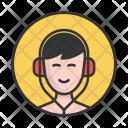 Boy Headphones Music Icon
