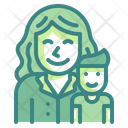Boy And Mother Icon