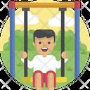 Boy At Swing Icon