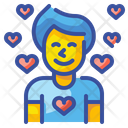 Boy In Love Lover Man Icon