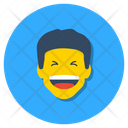 Boy Laughing Happy Face Joyful Icon
