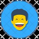 Boy Laughing Happy Face Joyful Icon