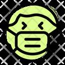 Boy Laughing Emoji With Face Mask Emoji Icon