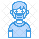 Boy Smile With Mask Icon