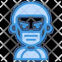 Boy Wear Medical Mask Icon