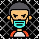 Boy Wear Medical Mask Boy Young Icon
