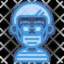 Boy Wear Surgical Mask Icon