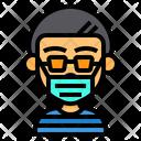 Boy Wear Surgical Mask Boy Male Icon