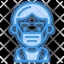 Boy Wearing Medical Mask Icon