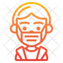 Boy Wearing Medical Mask Boy Smile Icon