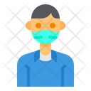 Boy With Facemask Icon